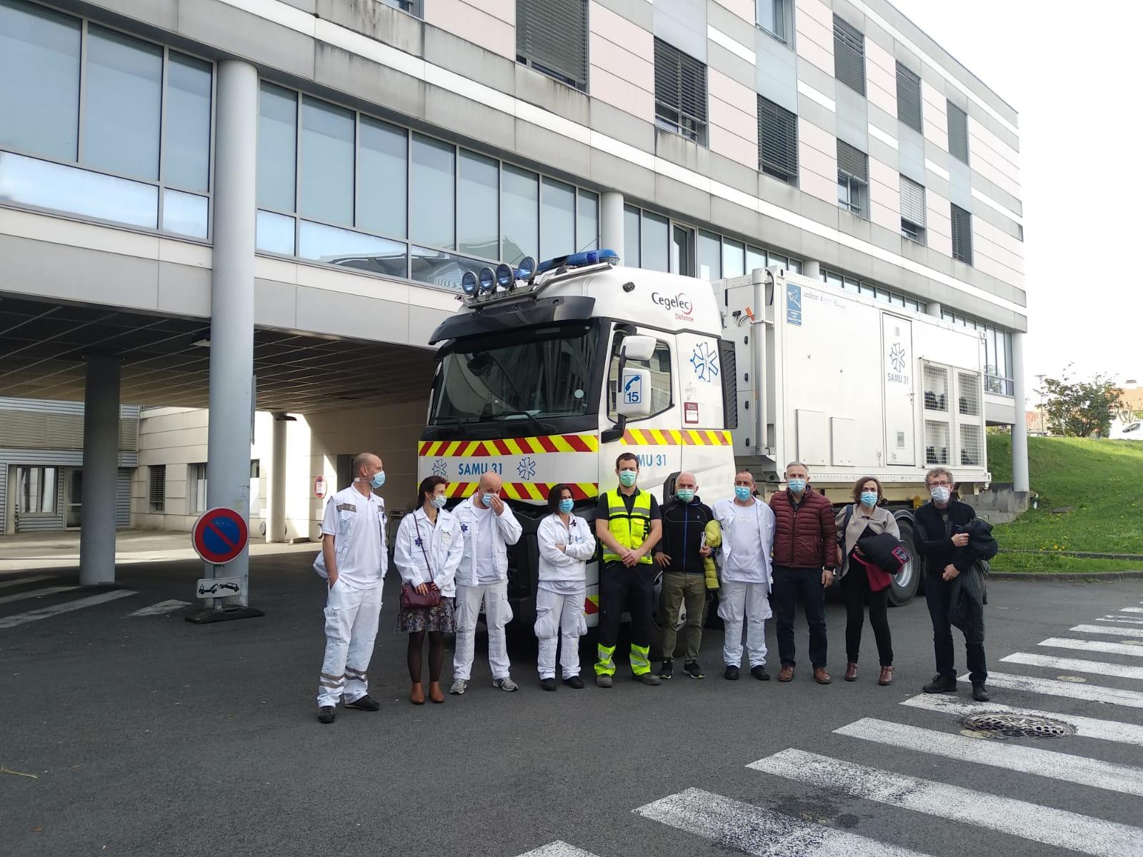 L'unité mobile d'urgences retourne à Toulouse après être passée par la Navarre pour renforcer la campagne de vaccination contre la COVID-19