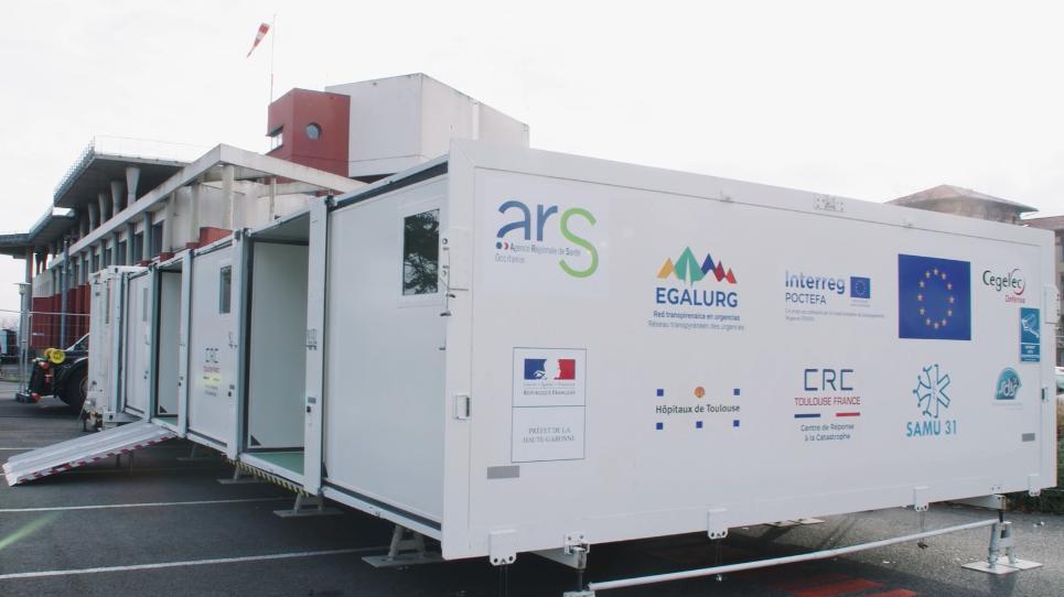 EGALURG facilite la construction et le déploiement de l'UMPEO, une installation innovante pour les soins d'urgences dans les régions transpyrénéennes